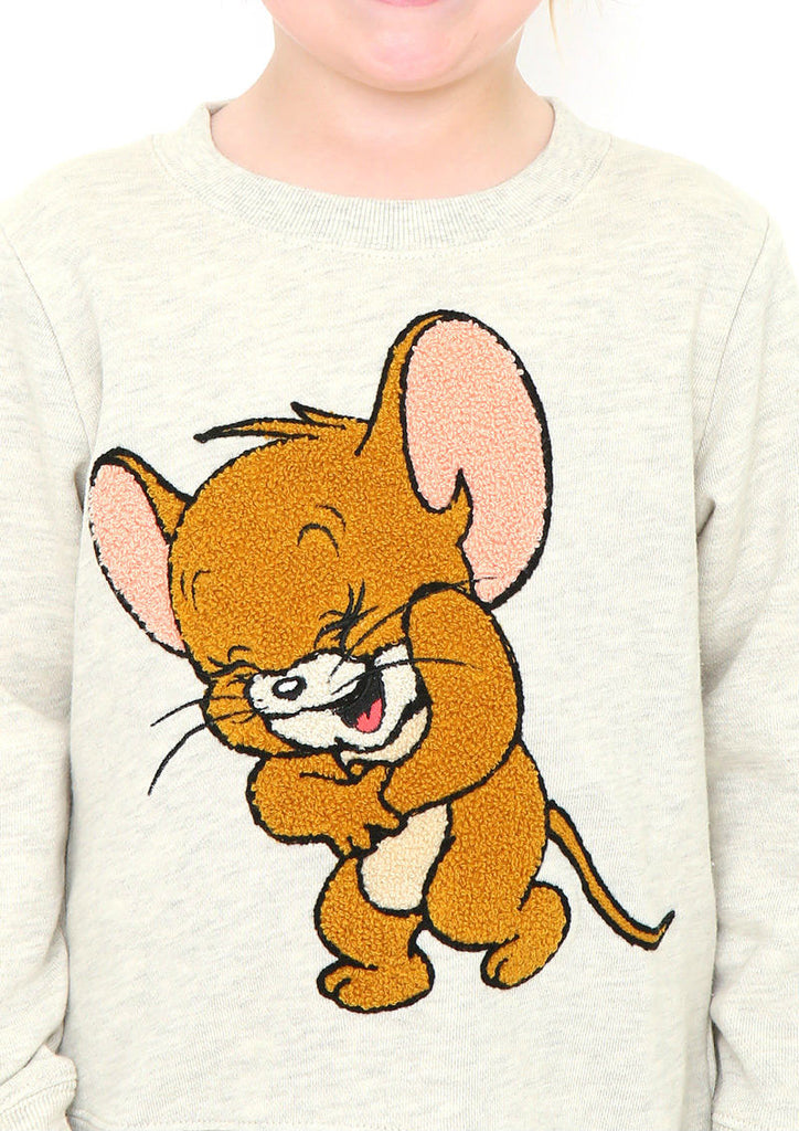 Tom and Jerry Long Sleeve Sweat (Tom and Jerry_Laughing Jerry)