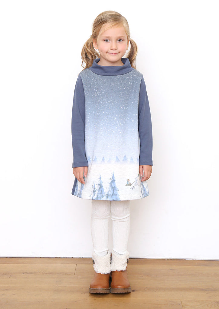 The Snowman Short Long Sleeve Sweat One-Piece (The Snowman_Snow Forest)