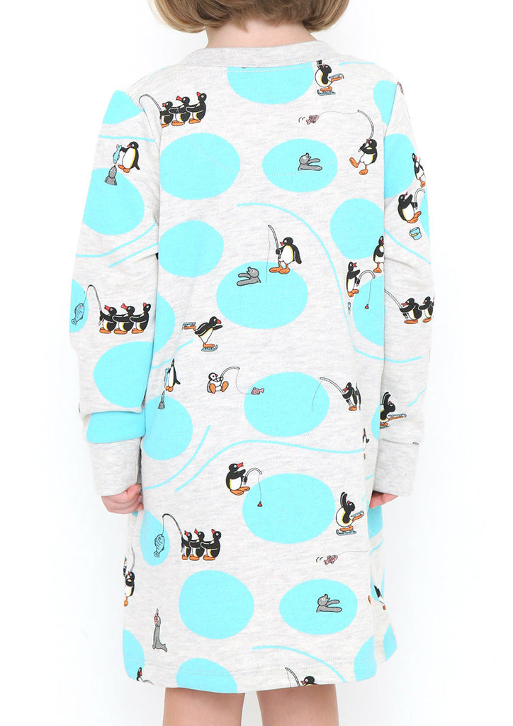 Pingu Long Sleeve Sweat One-Piece (Pingu_Winter Play)