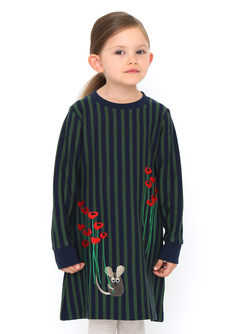 Leo Lionni A Line Long Sleeve Sweat One-Piece (Leo Lionni_Frederick in the Flower Garden)