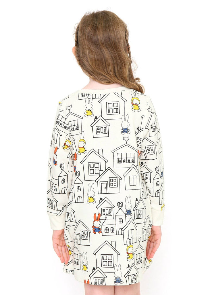 miffy Long Sleeve Sweat One-Piece (miffy_House Pattern miffy Pocket)