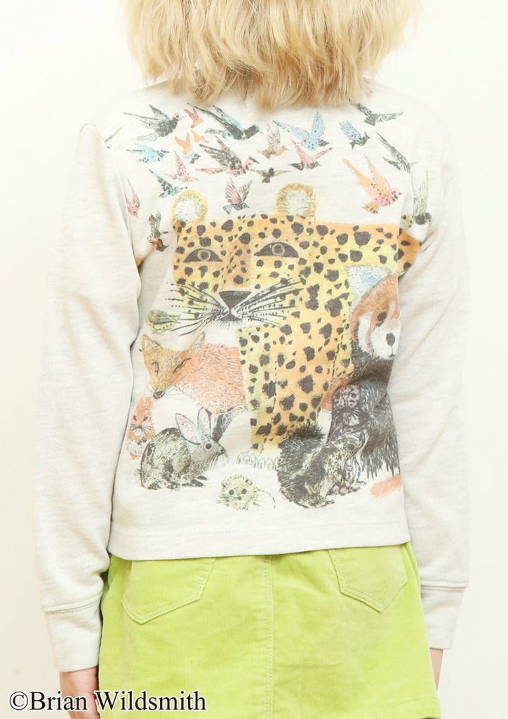 The Lazy Bear (Brian Wildsmith Crew Neck Sweat Cardigan)