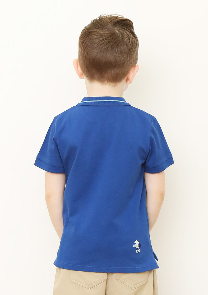 Multi Blue Color Short Sleeve Polo Shirt (Go to the Beach)