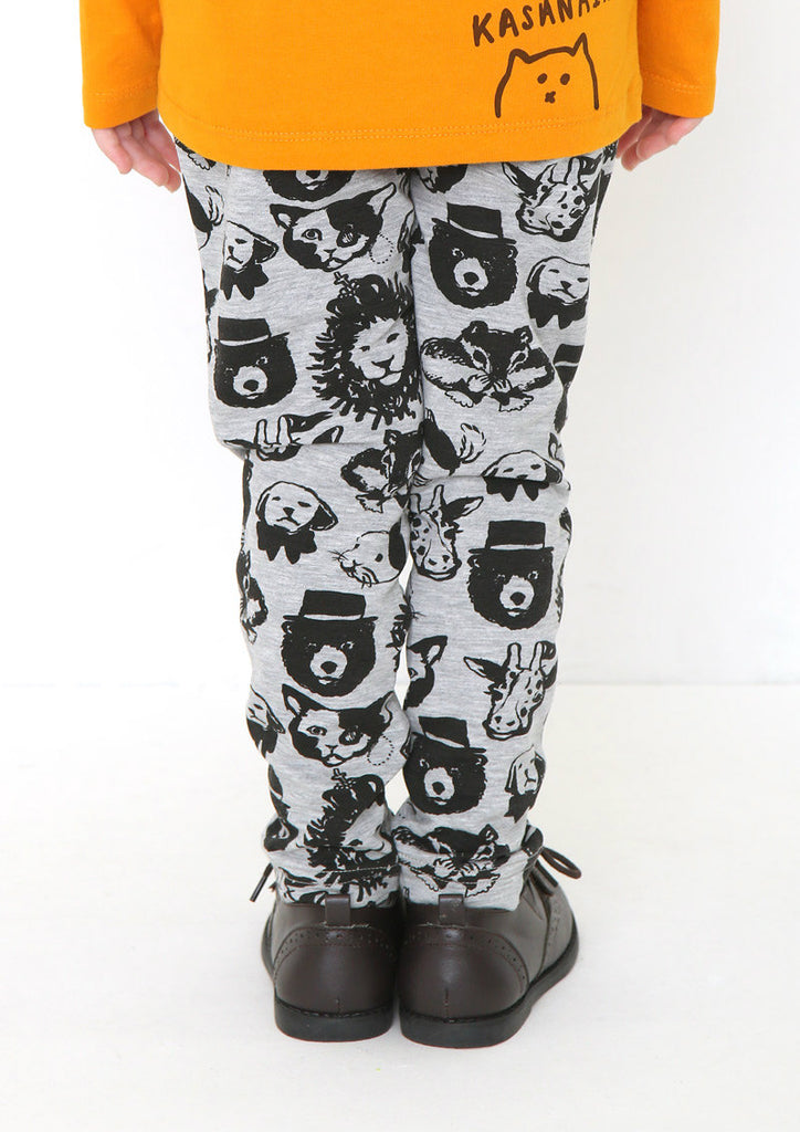 Multi Pattern Sweat Long Pants (Vintage Animals)