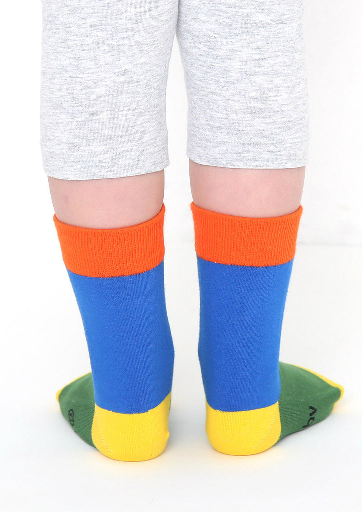 miffy Long Kids Socks (miffy_miffy Zoom colourful blue)