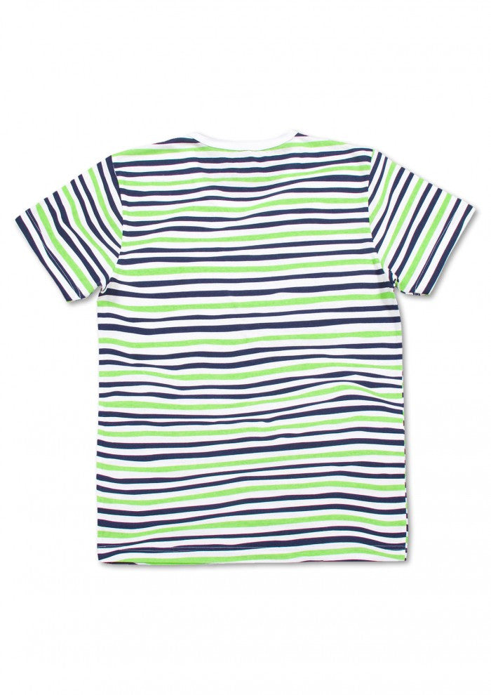 Wave Border Short Sleeve(Green)