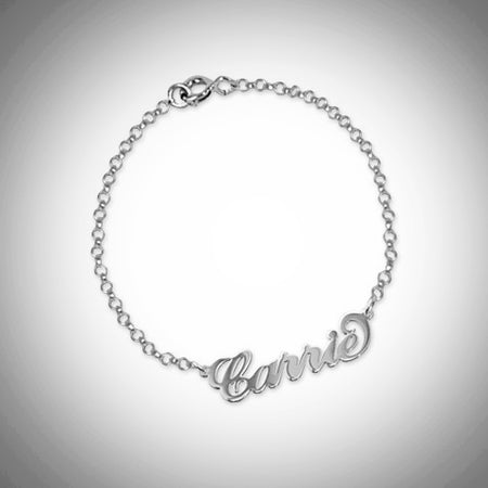 Name Bracelet (Sterling Silver)- Assorted Colours