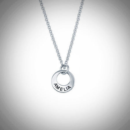 Disc Necklace (Sterling Silver)- Assorted Colours