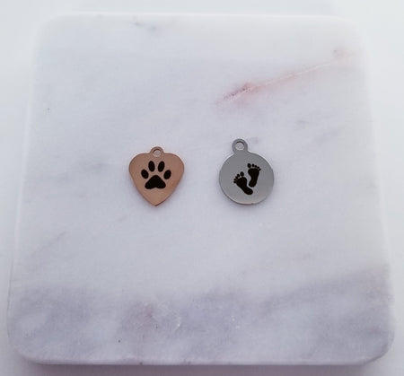 Paw/Foot Print Charms