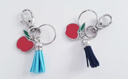 Teacher Keychain- Red Apple