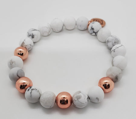 Howlite Rose Gold