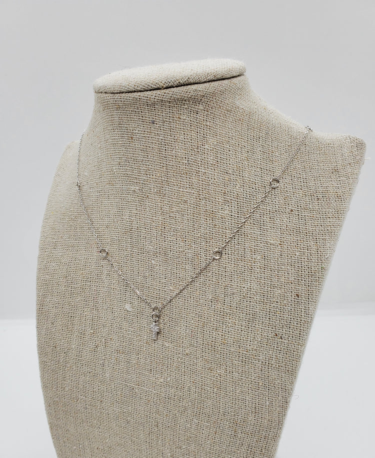Circle Necklace with Cross