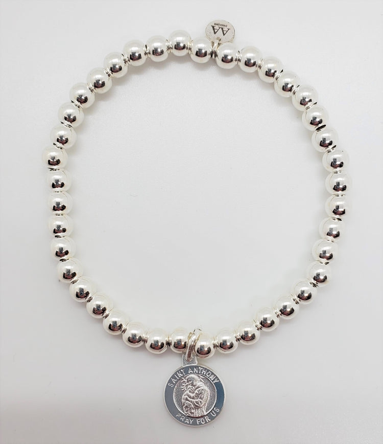 Stretch Bracelet with St. Anthony