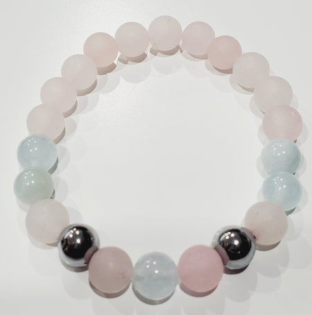 Rose Quartz Aquamarine Hematite