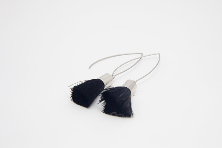 Tassle Earrings- Silver