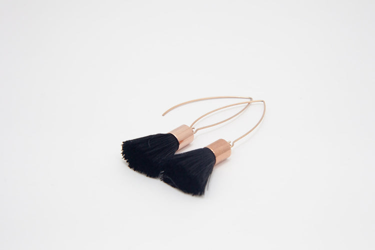Tassle Earrings- Rose Gold