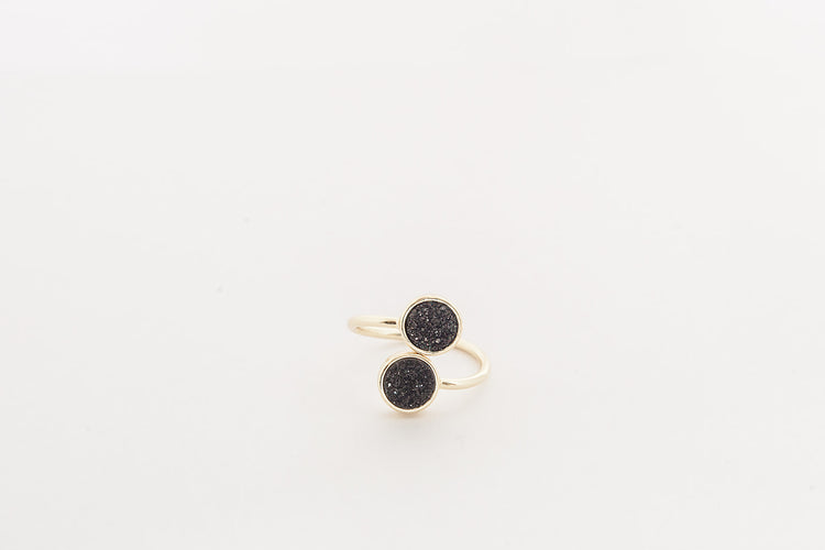 Black Agate- Gold
