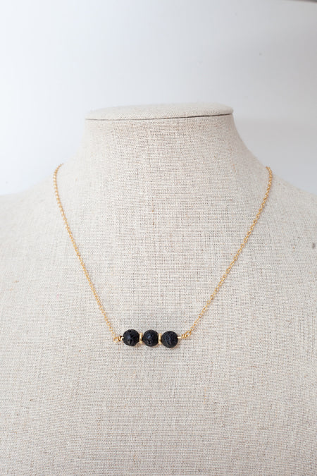 Lava Diffuser Necklace- Gold
