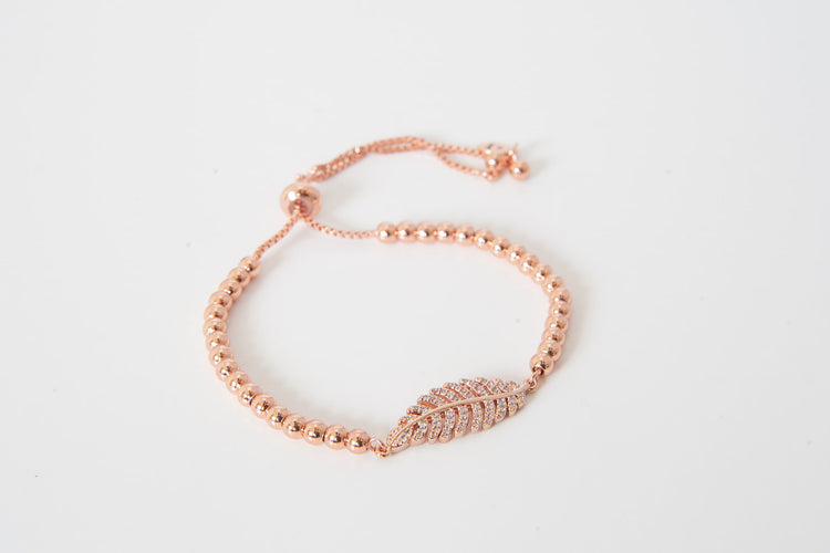 Rose Gold Extender - Leaf