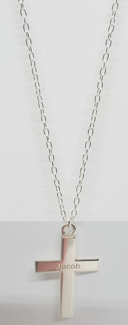 Necklace with Cross  (Sterling Silver)- Custom