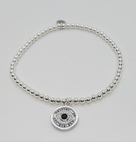 Stretch Bracelet with Evil Eye