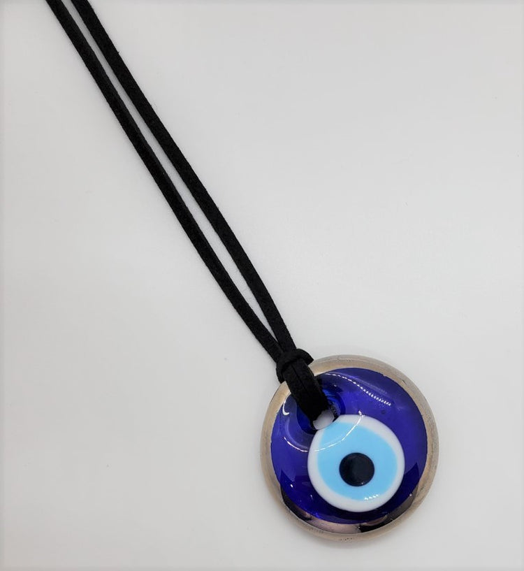 Evil Eye Car Pendant- Silver