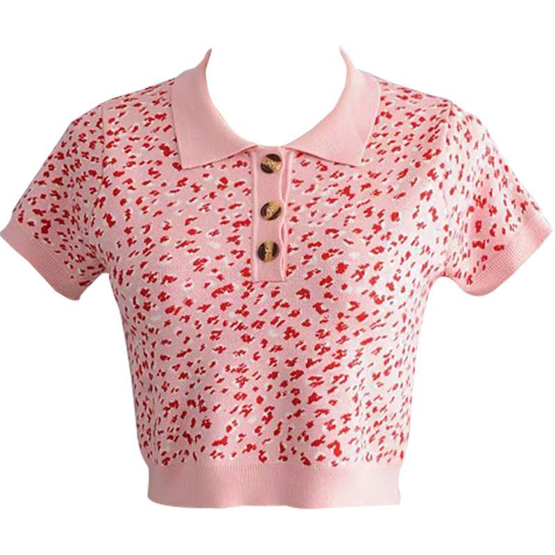 Pink Polo Cropped Top