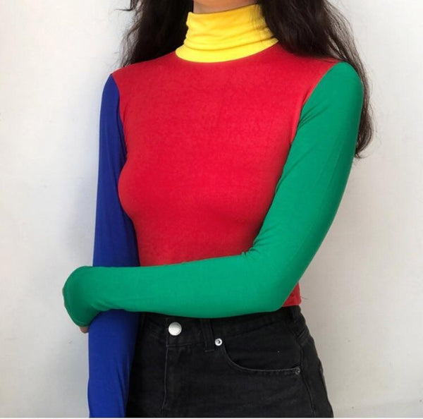 Primary Colored Turtleneck