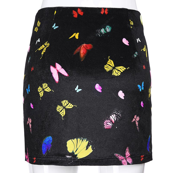 Multi-Colored Butterfly Skirt