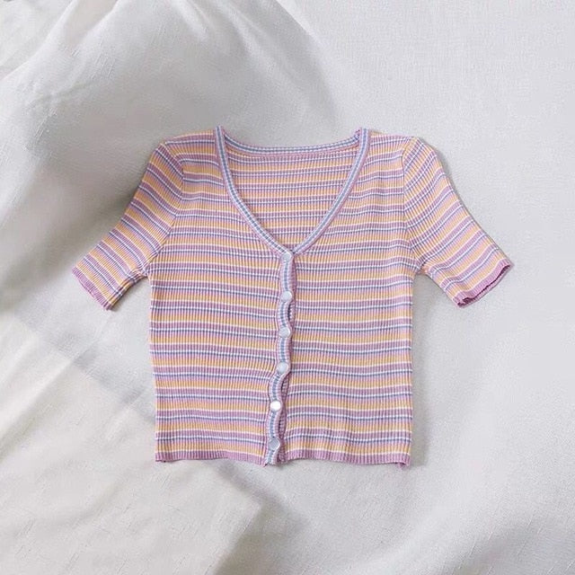 Vintage striped top