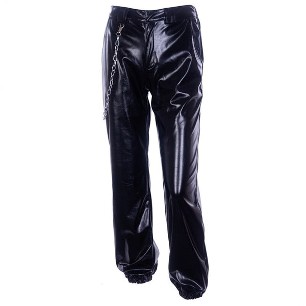 Faux Leather Cargo Pants