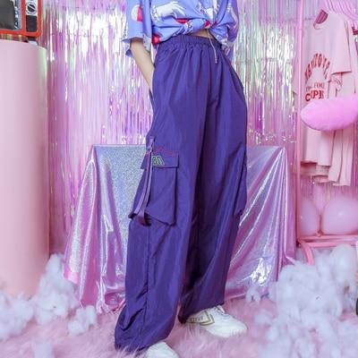 Oversized Turbo Pants - Purple / M