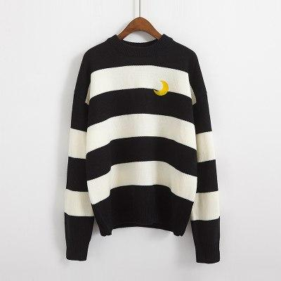 Moon striped sweater