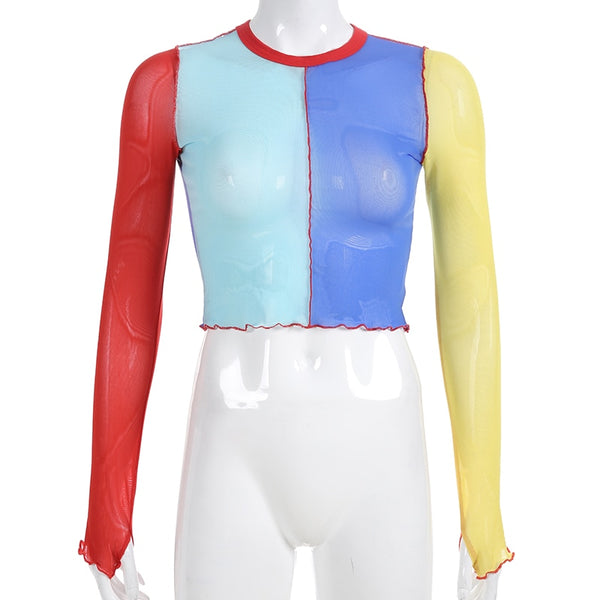 Primary colored mesh top