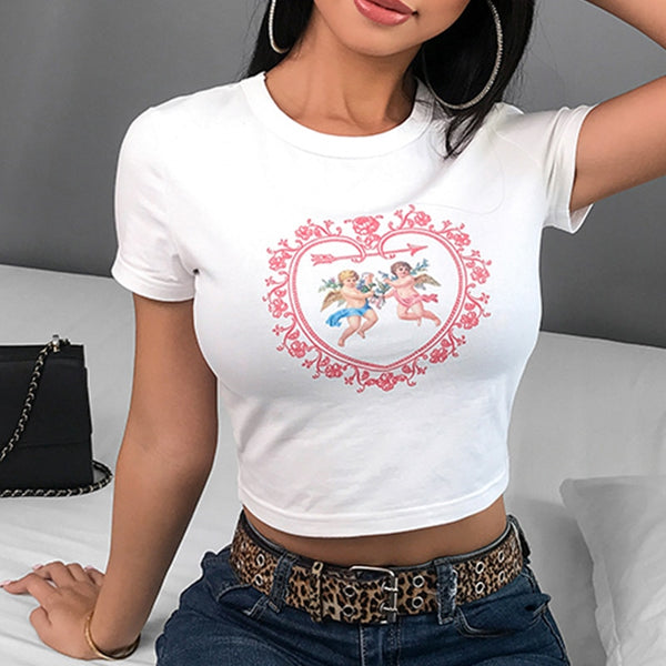 Cupid heart top