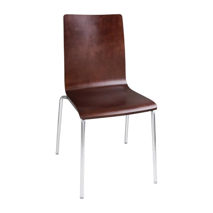 Chaise dossier carré marron Bolero