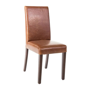Chaise simili cuir marron Bolero
