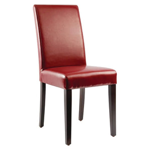 Chaise simili cuir rouge Bolero