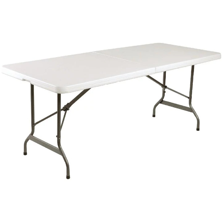 Table pliable au centre blanche Bolero