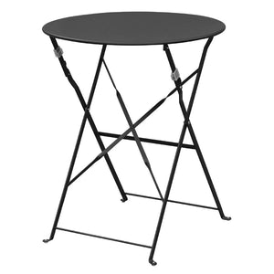 Table de terrasse ronde noir Bolero