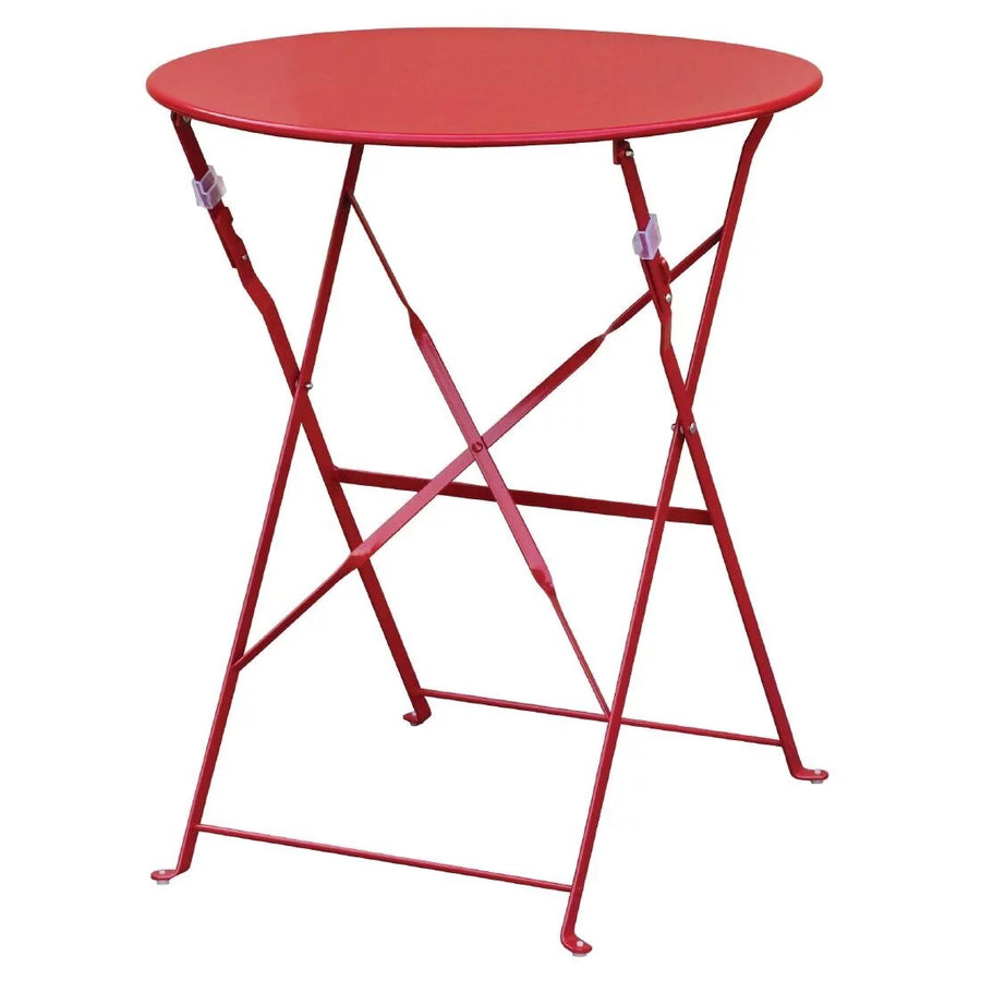 Table de terrasse ronde rouge Bolero