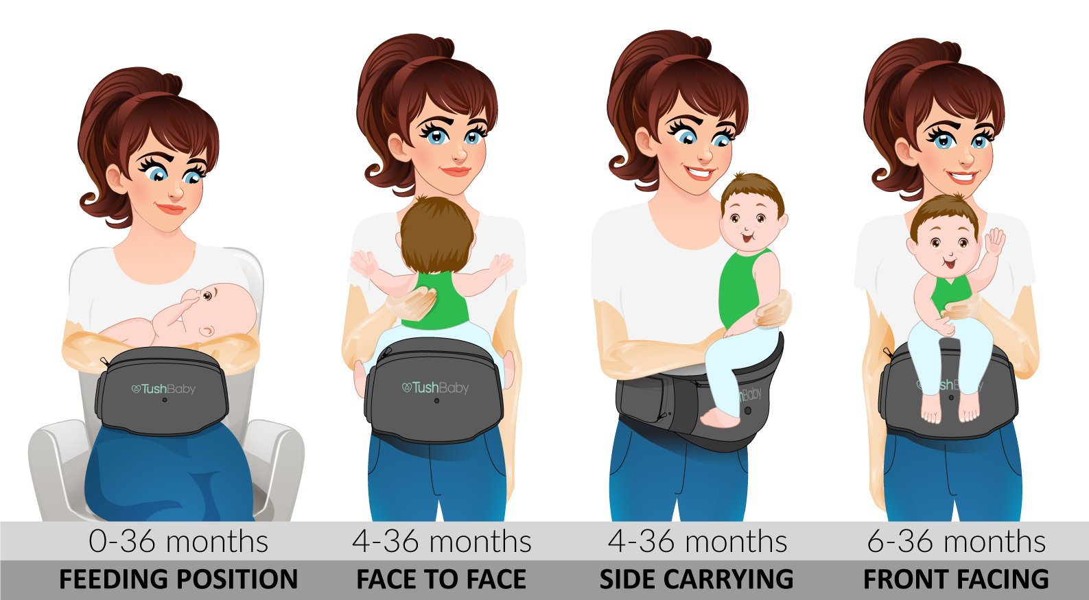 Toddler Waist Seat Stool Carrier Convinient Baby Front Carrier Grey Angelbaby Baby Infant Hip Seat Carrier