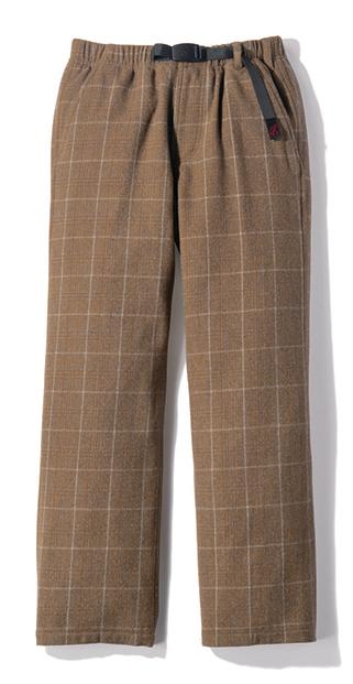 Women's Gramicci Wool Blend Lax Pants in Glen Check Camel