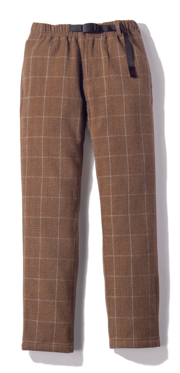 Gramicci Wool Blend NN-Pants Just Cut in Glen Check Camel front