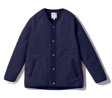 Gramicci Boa Fleece V-Neck Jacket in Navy