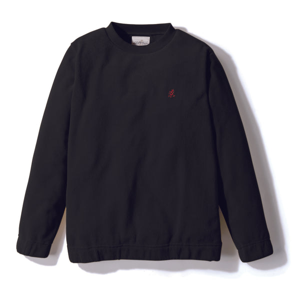 Gramicci Fleece Crew Neck Sweater in Black