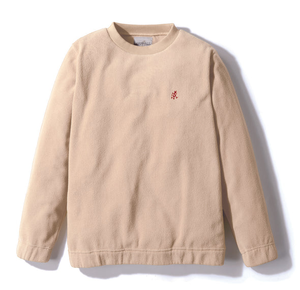 Gramicci Fleece Crew Neck Sweater in Ivory