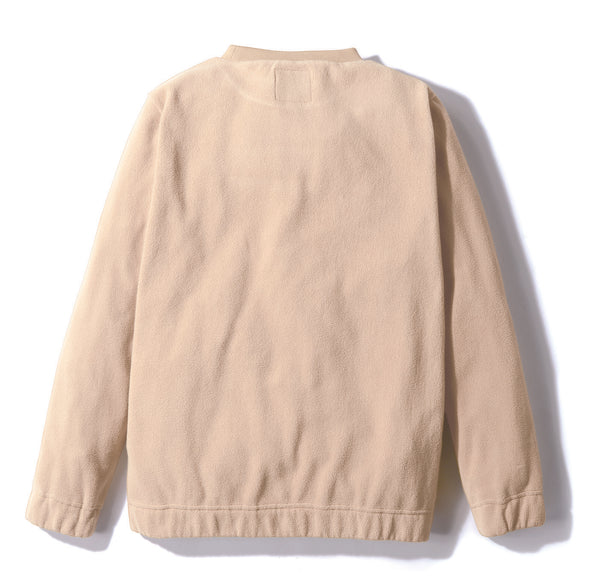 Gramicci Fleece Crew Neck Sweater in Ivory (Rear View)