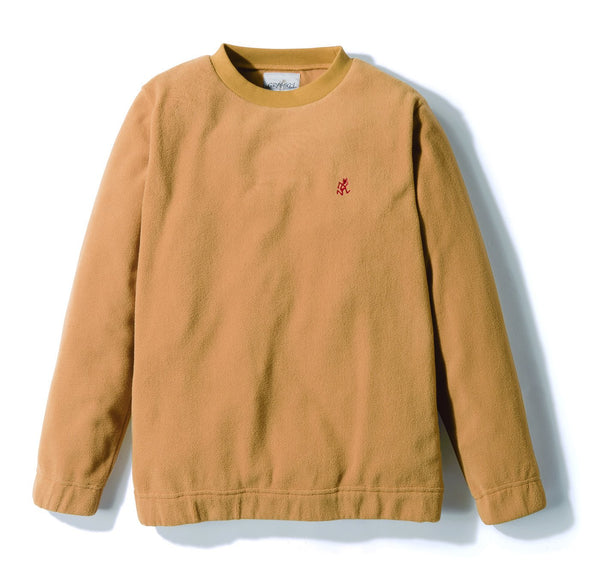 Gramicci Fleece Crew Neck Sweater in Mustard