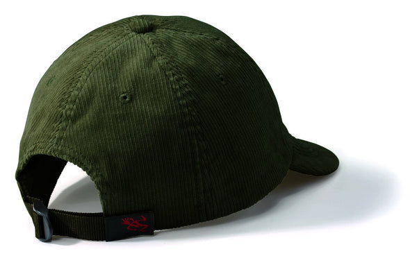 Gramicci Corduroy Umpire Cap in Olive (Rear View)